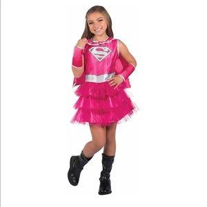 Pink Supergirl Child Tutu Dress Halloween Costume